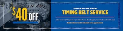 Subaru Timing Belt Replacement Service Savings Special