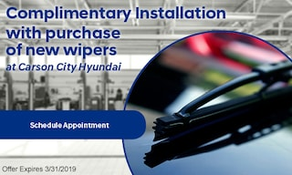 Wiper Blade Installation with purchase of new Wipers