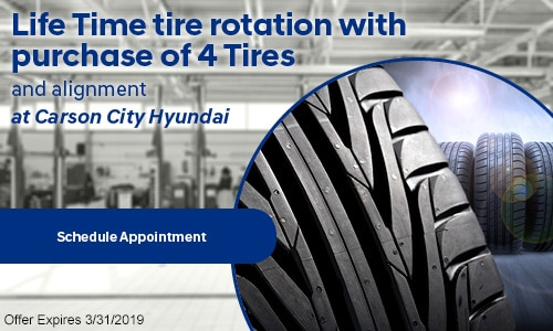 Lifetime Tire Rotation with Purchase of 4 Tires