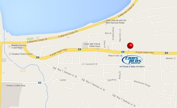 Directions | New Car Dealer | Guam | Hyundai, Ram, Jeep