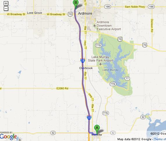 Directions to ardmore oklahoma