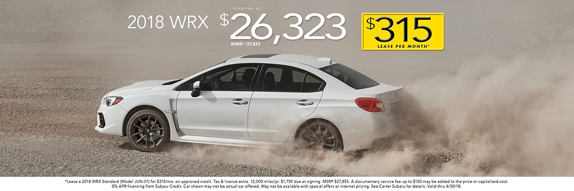 2018 Subaru WRX Specials in Seattle at Carter Subaru Shoreline in Seattle