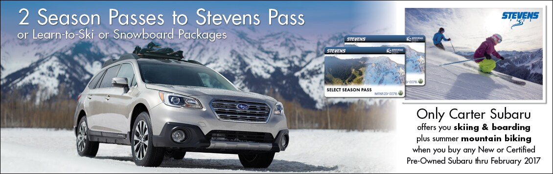 Get Season Tickets to Ski or Snowboard at Stevens Pass at Carter Subaru Shoreline in Seattle, WA