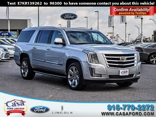 Featured Used 2019 Cadillac Escalade ESV Luxury SUV for Sale near Fort Bliss, TX