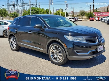 Featured Used 2016 Lincoln MKX Reserve SUV for Sale near Fort Bliss, TX
