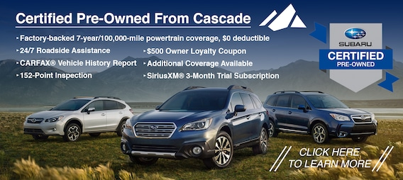 Subaru Certified Pre Owned >> Certified Pre Owned Subaru Buy A Cpo Subaru Near Moses