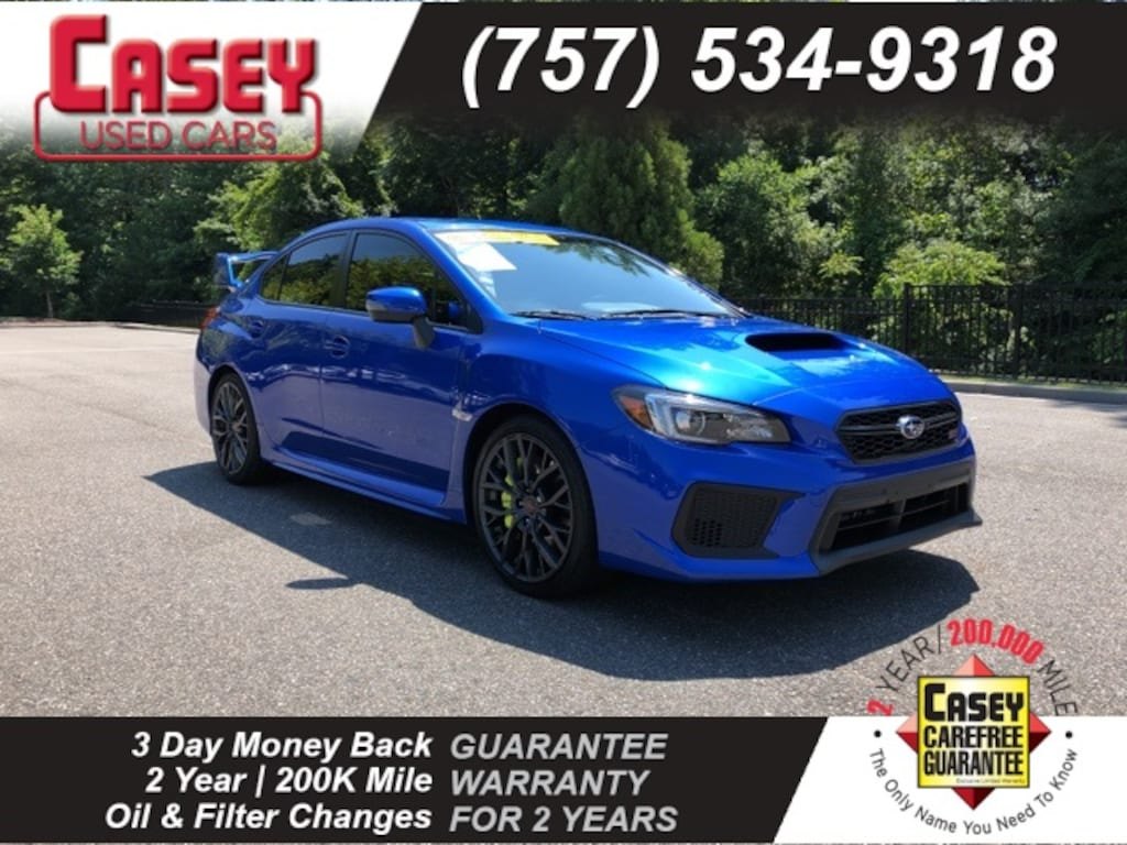 Sti For Sale >> Used 2018 Subaru Wrx Sti For Sale In Newport News And Wiliamsburg Area Va Vin