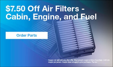 October | $7.50 Off Air Filters