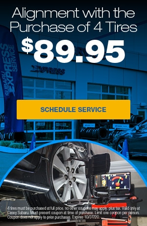 Alignment with the Purchase of 4 Tires