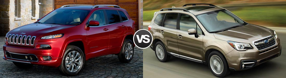 2017 Jeep Cherokee vs 2017 Subaru Forester