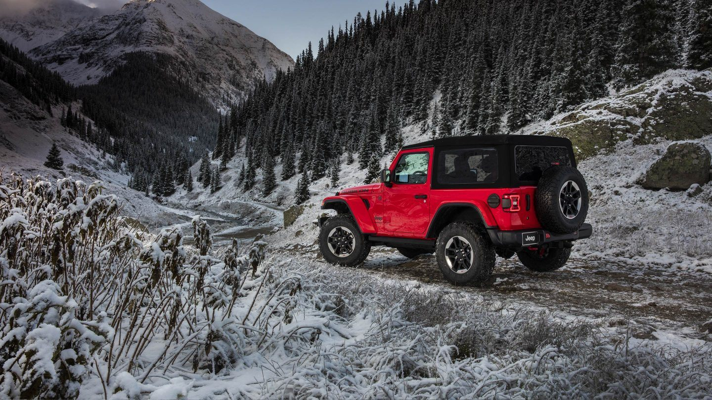 2018 Jeep Wrangler Red Exterior Rear Side View