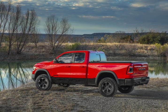 2019 Ram 1500 Red Exterior Side View