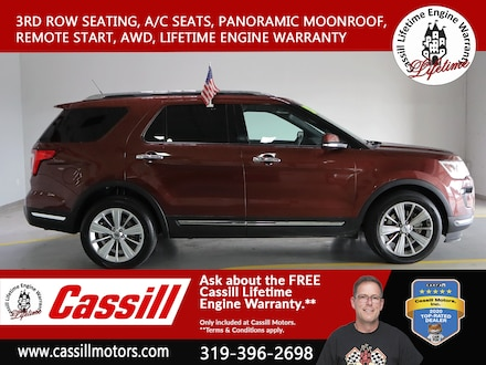 Featured Pre-Owned 2018 Ford Explorer Limited SUV for sale near you in Cedar Rapids, IA
