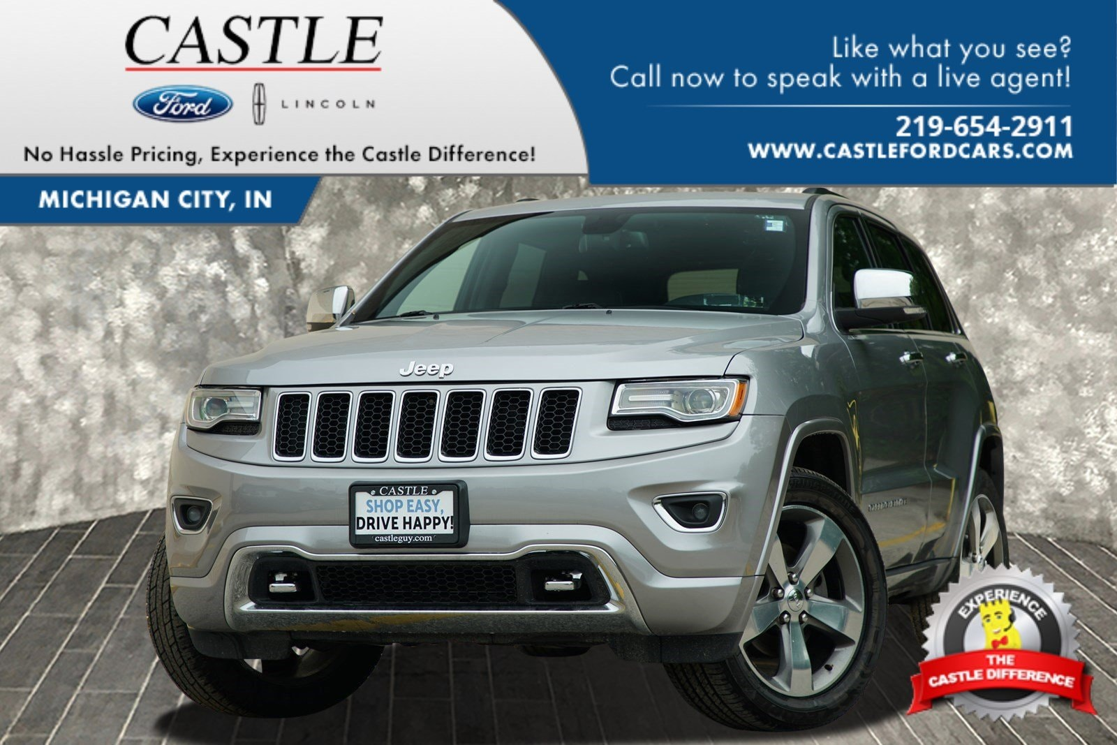 Used 2015 Jeep Grand Cherokee For Sale at Castle Lincoln | VIN