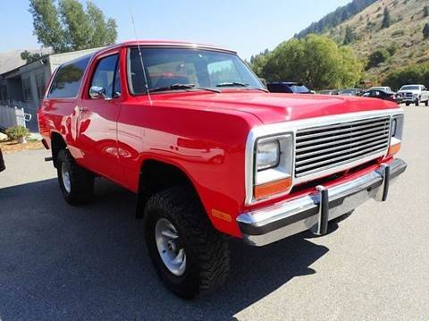 1984 Dodge Ramcharger 150 2dr 4WD SUV SUV
