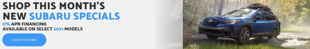 Shop This Month's New Subaru Specials - April