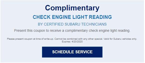 Check Engine Light Reading
