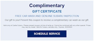 Free Car Wash & Genuine Inspection