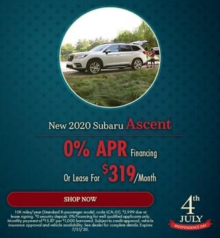 July - 2020 Subaru Ascent