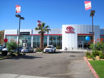 Toyota Of The Desert >> Toyota Of The Desert Cathedral City Auto Center
