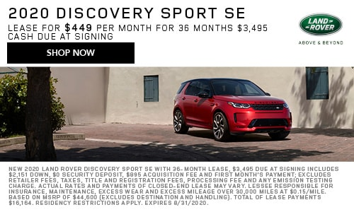 August 2020 Discovery Sport Special