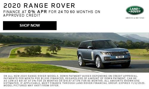 Finance: 2020 Land Rover Range Rover
