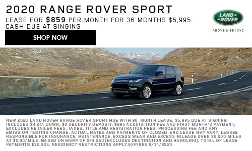 August 2020 Range Rover Sport Special