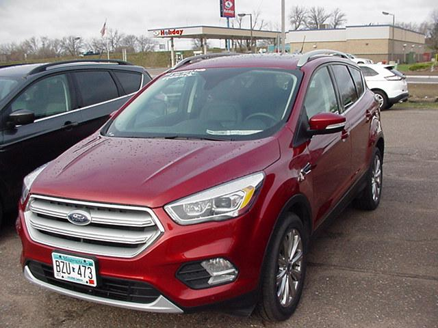 Used 2018 Ford Escape Titanium with VIN 1FMCU9J9XJUC49785 for sale in Pine City, Minnesota