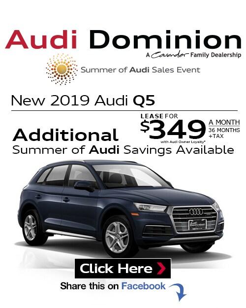 2019 Audi Q5: New Audi Specials At Audi Dominion