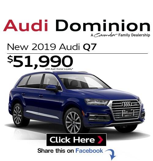 New Audi Specials At Audi Dominion