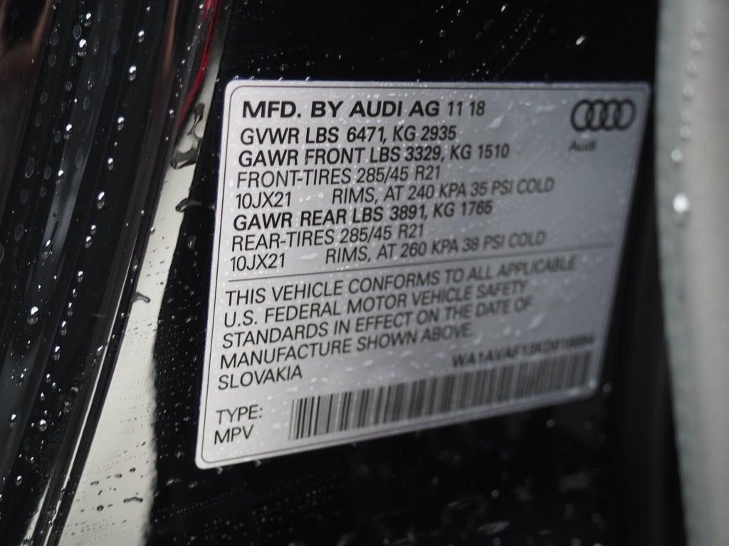 2019 Audi Q8 For Sale in San Antonio | Near Alamo Heights, Converse TX &  Schertz | VIN: WA1AVAF13KD016694