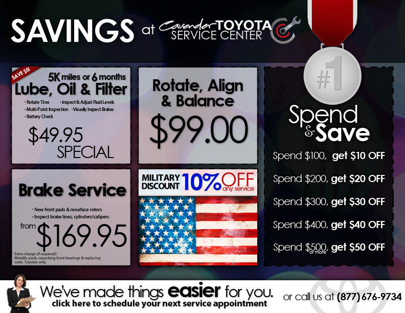 image relating to Toyota Service Coupons Printable identify Cavender Toyota Support Discount codes within just San Antonio, TX 78238