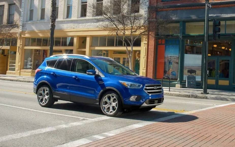 2019 Ford Escape at stoplight