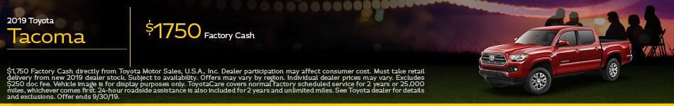 2019 Toyota Tacoma Factory Cash