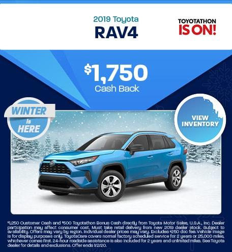 New 2019 Toyota RAV4 | Cash Back