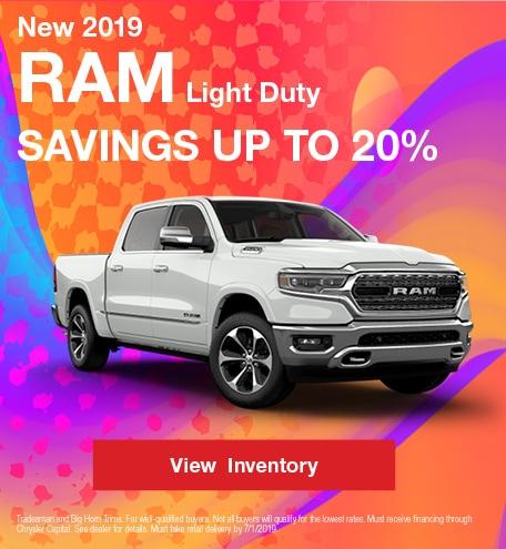 2019 RAM Light Duty - Savings