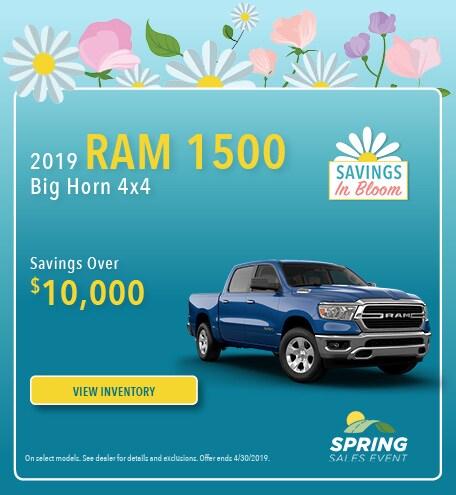 April 2019 Ram 1500 Savings