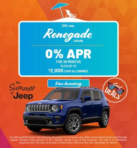 2019 Jeep Renegade Latitude APR