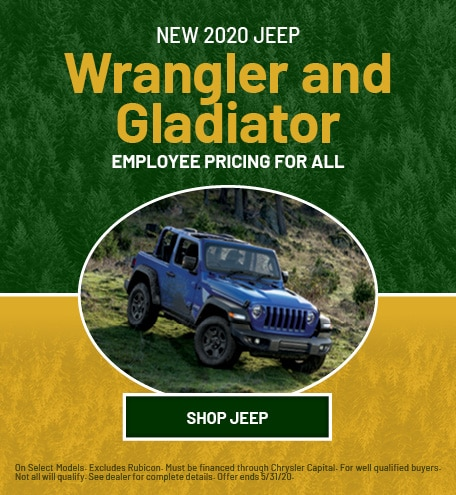 New 2020 Jeep Wrangler and Gladiator | Employee Pricing for All