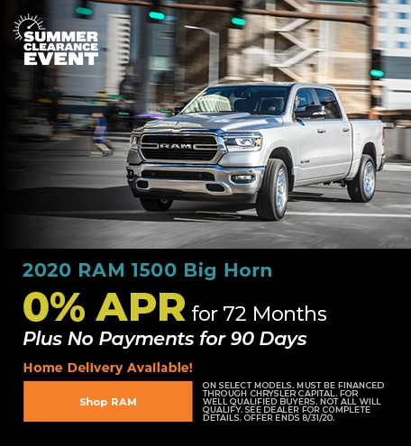 New 2020 RAM 1500 | 0% APR for 72 Months
