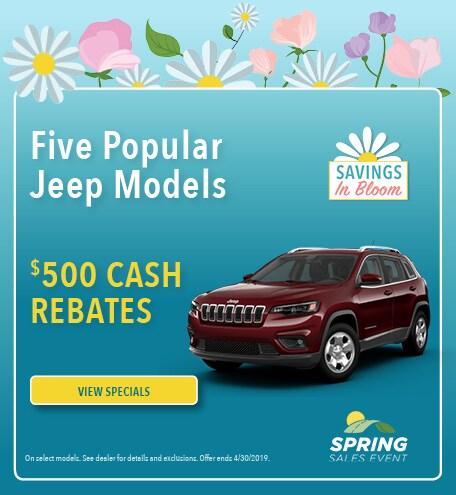 April 2019 Jeep Cash Rebate