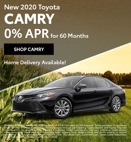 New 2020 Toyota Camry | 0% APR for 60 Months