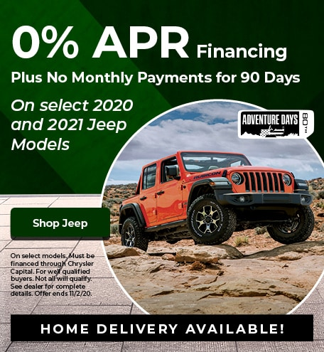 New 2020 and 2021 Jeep | 0% APR and Deferred Payments