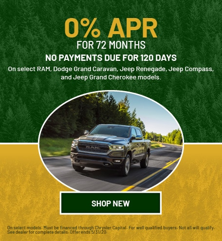 New RAM, Dodge, Jeep  | 0% APR for 72 Months