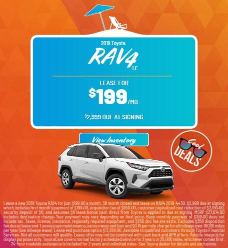 2019 Toyota RAV4 LE - Lease