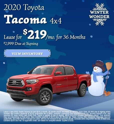 New 2020 Toyota Tacoma 4x4   Lease