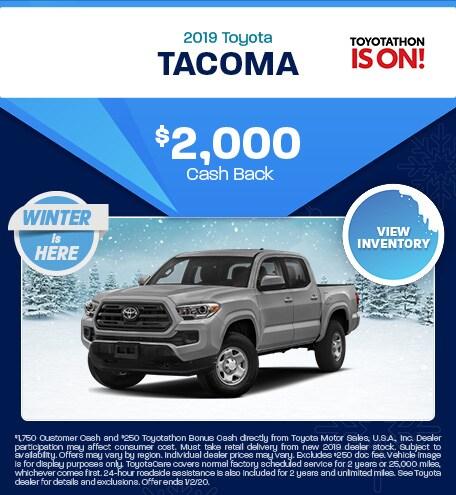 New 2019 Toyota Tacoma | Cash Back