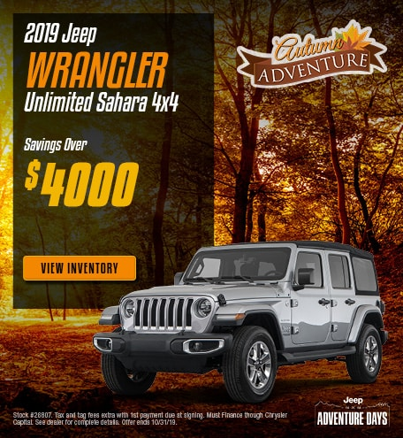 New 2019 Jeep Wrangler Unlimited Sahara 4x4 | Savings