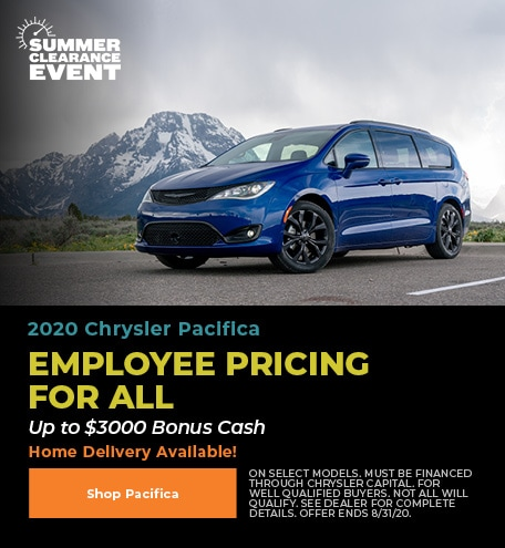 New 2020 Chrysler Pacifica | Employee Pricing