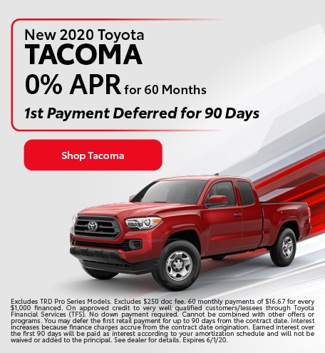 New 2020 Toyota Tacoma | 0% APR for 60 Months